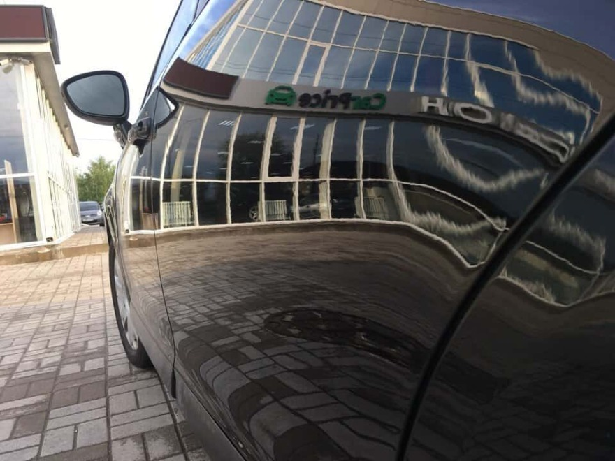 Фото после ремонта царапины на двери Nissan