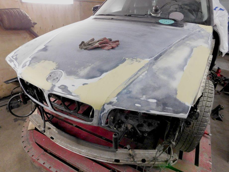 фото ремонт капота авто